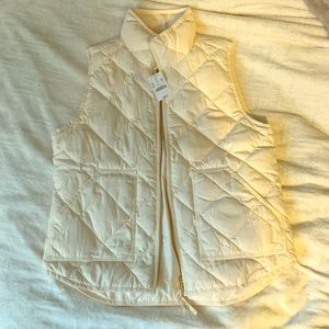 J. Crew Ivory Vest - new with tags
